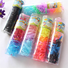 Disposable small Scrunchy Not Easy Break Korean Mutil color Children Girl headband Rubber Rope Headwear Cute Hairbands wholesale