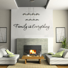 Best Price Mural Home Bedroom Decor DIY Wallpaper English Quote Family is Everything Removable Art Words Wall Sticker  1568