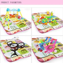 2017 multi-function Cloth Crawling blanket For Baby Kids Toddler Crawl Play Game Picnic Carpet Beach Electronic Letters Toys