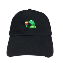 KERMIT NONE OF MY BUSINESS UNSTRUCTURED DAD HAT CAP FROG TEA LEBRON JAMES NEW casquette kenye west ye bear dad cap Big Daddy hat(China)