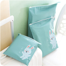 Clothing Storage Bag Waterproof Dustproof Travel Pouch Underwear Thick Ziplock Bags Clothing Pouch Storage Containers 1PC