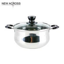 JUH A Set Single Layer Bottom Soup Pot Stainless Steel Compound Sole Soup Pot Sauce boxes Skillet Thickening Cooker Pots(China)
