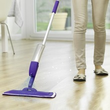 Rovus Spray Mop Microfiber Nozzle Rotating Handle Lightweight Compact Floor Cleaning