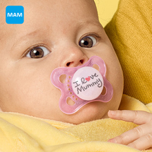 MAM Top Silicone Nipple Orthodontic Soother baby Pacifier Care 2-6 months free shipping(China)
