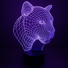 Ambience Colorful Abstract Acrylic Visual Lamp Illusion Lamp LED Light Touch Switch 3D Small Night Lights Holiday Lamp Mood Lamp(China)