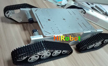 T900 crawler smart car 4WD metal tank chassis Wall-e robot chassis for remote tank control,tank design competition