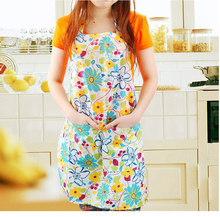 High Quality Waterproof PVC Apron Flower Style Women Lady's Kitchen Cooking  Lace  Sleeveless  Aprons