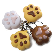 Kawaii Soft Cartoon Chain Squishy Bread Puppy Footprint Cell Phone Charm Straps Toys Gift Cream Bread Cake Scented 1pcs