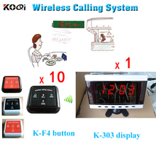 2016 Newest CE Certification Print LOGO Service Calling Button Wireless Call Bell Equipment Restaurant Table Ordering System(China)