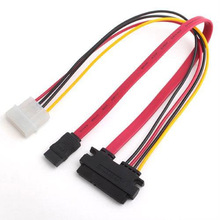 70CM 6Gb/s SATA3 15pin to SATA 7pin +IDE Molex 4Pin Power / Data Combo Cable for PC SATA 3.0 SATAIII 6Gbps Hard Drive Disk,SSD(China)