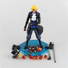 25cm PVC One Piece Anime Sabot Action Figure Toy, 9.9inch Anime One Piece Figure Model, Toys For Children, Brinquedos