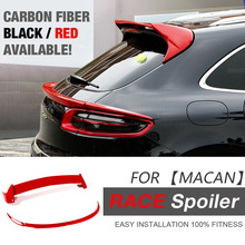 GTS Race Design Car Roof Spoiler Rear Lid Spoiler Aerodynamic Body kits for Porsche Macan PUR Red Black / Carbon Fiber Options