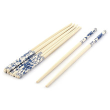 UXCELL Product Name Household Kitchen Restaurant Bamboo Flower Pattern Chopsticks Wooden Color 5 Pairs chopsticks
