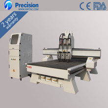 Hot sale China Highest Efficiency Door Processing 3 Heads Wood Design Machine CNC Router