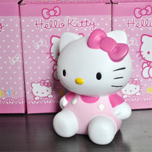 Anime Hello Kitty Cosplay Kawaii Action Figure Toys, 15cm Hello kitty Money Bank Action Figure Model/ Brinquedos, Kids Toys