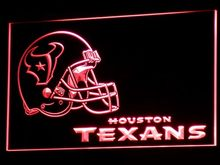b321 Houston Texans Helmet Pub Bar NR LED Neon Sign with On/Off Switch 7 Colors to choose