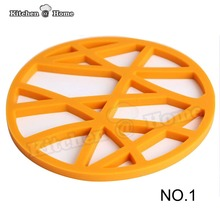 Dia 17cm Silicone Round Flower Heat Resistant Pot Mat,Non-Slip Tableware Coaster Placemat BPA Free K244