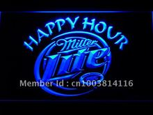 605 Miller Lite Happy Hour Beer Bar LED Neon Light Sign Wholesale Dropshipping On/ Off Switch 7 colors DHL