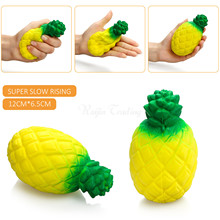 Cute Squishy 12CM Jumbo Pineapple Super Slow Rising Kawaii Phone Straps Pendant Charms Fruit Scented Bread Cake Kid Toy Gift(China)