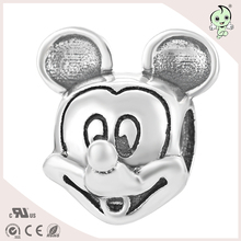 Cartoon rat jewelry type S925 Sterling Silver beads or charm for bracelts(China)