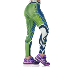Woman Yoga Pants Fitness Fiber Sport Leggings Seattle Seahawks Sports Tights Trousers Exercise Training Gym Clothing Sportswear(China)
