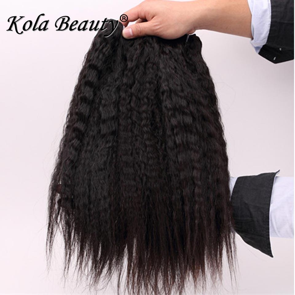 Kinky Straight 10A Unprocessed Virgin Hair Malaysian Kinky Straight Hair Weaves Coarse Yaki Virgin Hair 4 Pcs Human Hair Weave<br><br>Aliexpress