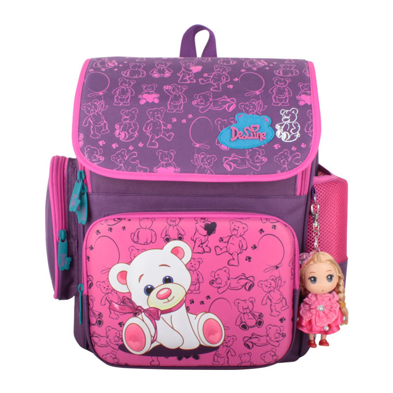 Delune Grade1-4 Orthopedic Breathable  Princess Primary School Backpack for girls Schoolbag Kids Knapsack Satchel bags with toy<br><br>Aliexpress
