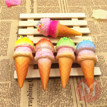 10CM kawaii soft Slow Rising squishy ice cream queeze bun cell phone keys pendant cute squishies bread scented Kid Toys Gift