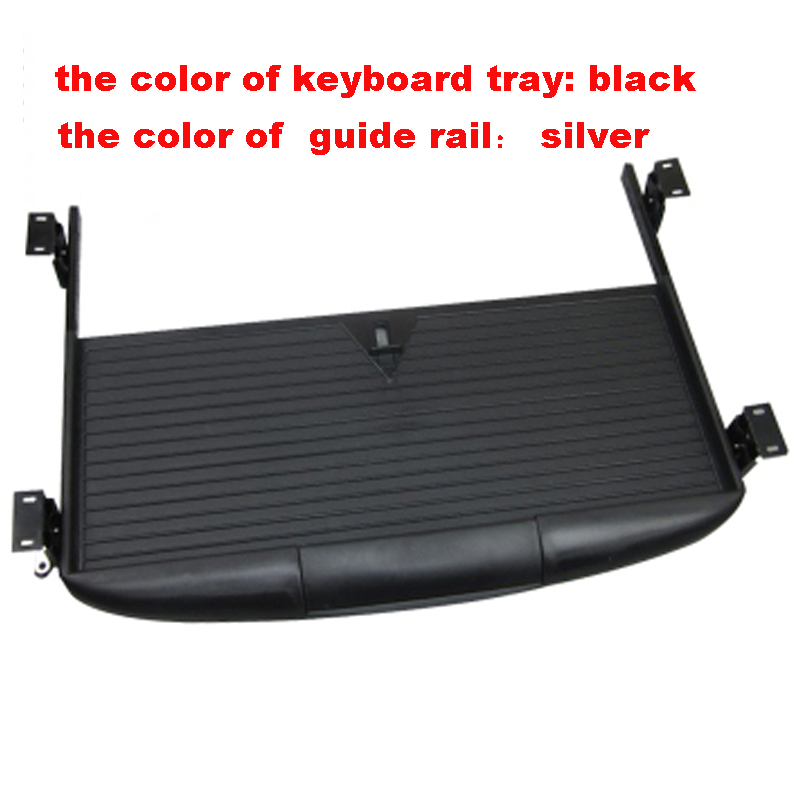 Black/ Offwhite ABS material computer desk keyboard tray accessory keyboard tray drawer slide rail rack guide rail<br><br>Aliexpress