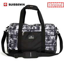 Suissewin Camouflage Men's Travel Bag Fashion Swiss Army Green Handbag Male Big Shoulder Bag Duffel Bag for Business travel(China)