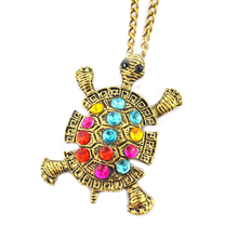 Vintage Cute Sweater Chain Tortoise Necklaces Jewelry For Women New Fashion Turtle Pendant Necklace