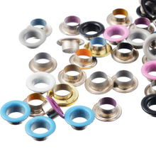 200PCs Eyelets Mixed Color Scrapbooking Embellishment Garment Accessories DIY Garment Clothes Eyelets 10mm Round Apparel Sewing