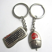 Hot Sell Lovers Buckle Keychain Gifts Couples Key Chain Ring Keyboard/Mouse Lover's Gift for Valentines Day