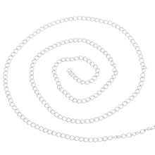 LASPERAL 2M Stainless Steel Silver Color Chain Necklace Accessories For Necklace Bracelet Jewelry Making Supplies