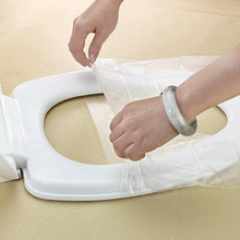 10Pcs/Lot Travel Safety Plastic Disposable Toilet Seat Cover Waterproof(China)
