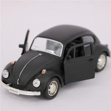 1:32 Scale Diecast + ABS Metal Cars Models, 12.5cm Pull Back VW Beetle Cars Toys, Toys For Children, Christmas Gifts(China)