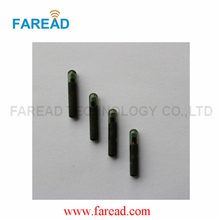 ICAR number Animal RFID tags  glass tube 1.4*8mm FDX-B ISO11784/5 LF for Pet identification