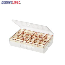 New Style 24 Slots Double-deck Compartmental Hearing Aid Accessories Storage Box  With Excellent Quality
