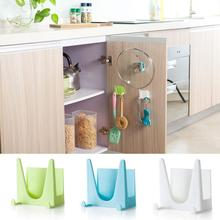 Ouneed Brand Plastic Kitchen Pot Pan Cover Shell Cover Sucker Tool Bracket Storage Holder Rack High Quality 2017 Bathroom Shelve