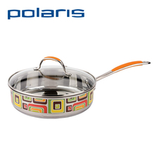 Polaris FL-24SP 24cm Non-stick Frying Pan Combined color Stainless steel Deep stewing pan Fresh Line Diameter 24 cm with Cover