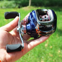 Sougayilang Bait Casting Reel LK100 9+1BB 220g Reel with One Way Cluth Left/Right Magnetic Brake System Coil Wheel Trolling Reel