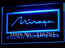 k083 Mirage Loudspeaker System Audio LED Neon Light Sign Wholesale Dropshipping On/ Off Switch 7 colors DHL