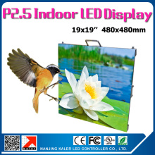 Idoor P2.5 rental led display cabinet 480*480mm for TV station ,stage ,ceiling, standard display cabinet p2.5 rgb led panels(China)