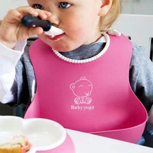 Hot Sale New Baby Silicone Bib Stereo Disposable Kids Children Pick Rice Pocket For Boy Girls 4 Colors