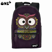 ONE2 design best selling dark folk owl school laptop computer backpack for children university girls boys students
