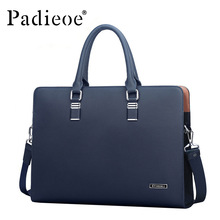 Padieoe Luxury Brand Genuine Real Cow Leather Messenger Bags Business Men Briefcases Handbags Men Totes Casual Male Bag Shoulder