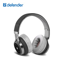 Defender FreeMotion B600 Headphone Noise Cancelling 3.5mm Stereo Music Portable Earphone Silver Color Super sound Cool Design