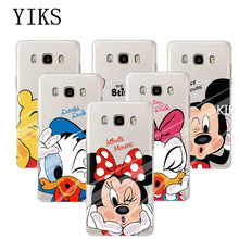 Cute Mickey Minnie Soft TPU Case Cover Samsung Galaxy J3 J5 J7 2015 2016 2017 J320 J510 Phone Fundas Back Protector - YIKS Store store