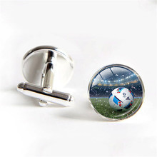 France Soccer Cup Mascot Super Victor Cufflinks Fashion Men Shirt cuff links Personalized Gifts Football Flag Cufflinks