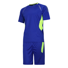 Short Sleeve Mens Football Jersey Paintless Training Soccer Jerseys Sets Maillot de Foot tracksuit Breathable Sports Wear Kits(China)